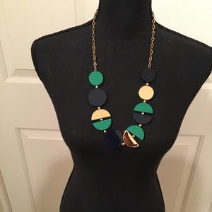NWOT AUTHENTIC KATE SPADE NAVY GREEN NECKLACE
